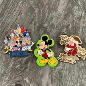Disney pin some backs bent